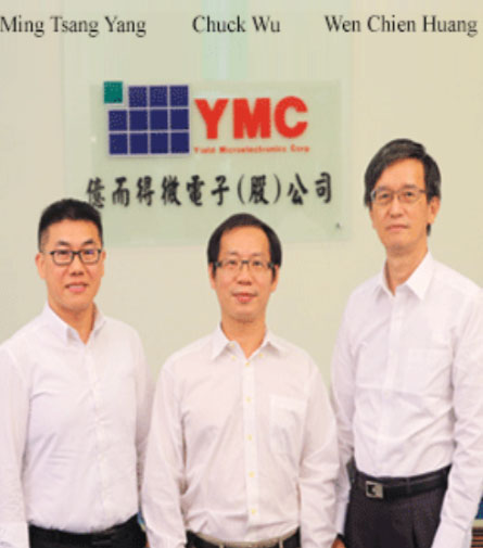 Ming Tsang Yang, Sales Director, Chuck Wu, Product Design Manager & Wen Chien Huang, CEO, Yield Microelectronics Corporation